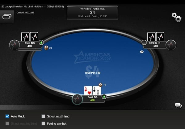 Americas Cardroom Bonus Code WELCOME100 for 100% up to $1,000